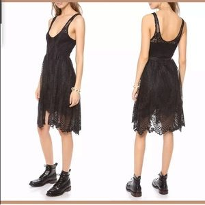 Free People metallic fit and flare dress size 8